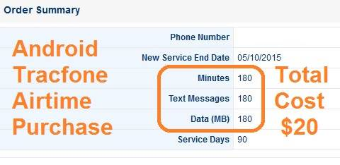 android tracfone airtime data