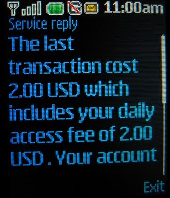 att gophone two dollar charge notification