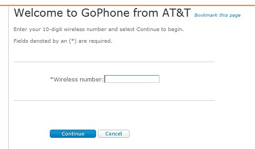 att gophone registration -  enter phone number again