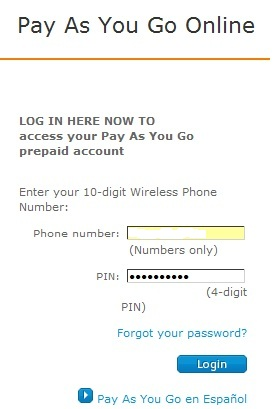 att gophone login enter password