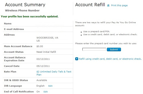 AT&T Gophone Online Registration and Airtime Refill Experience
