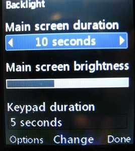 LG 420g Backlight options