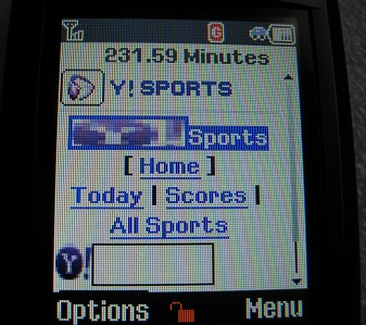 Mobile Web Yahoo Sports on T301g