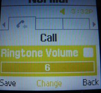 Samsung T245g ringtone volume
