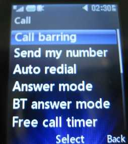 Deactivating Call Barring (or Call Reject)