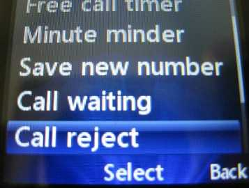 LG 420g Call Reject