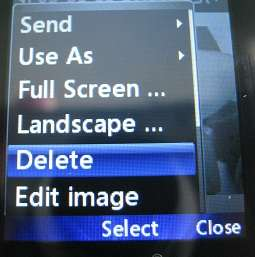 LG 420g delete pictures option