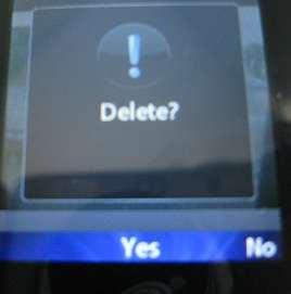 LG 420g confirm delete picture