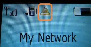doro phone alarm bell symbol