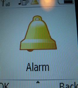 doro phone alarm menu