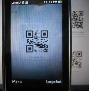 Kaywa QR reader takes snapshot