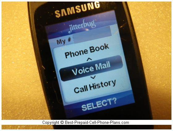 voicemail menu option