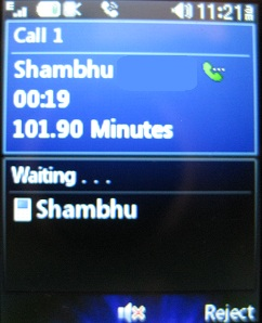 LG 420g answer second call