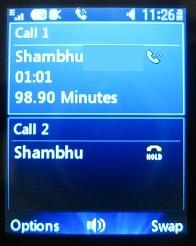 LG 420g swap calls