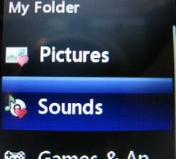 LG 420g My Folder Sounds