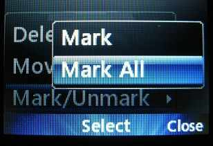 Mark all LG 500g messages for deletion
