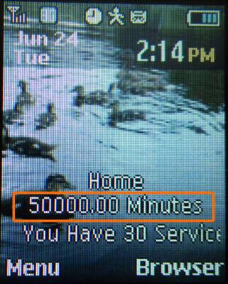 50,000 minutes on Net10 phone