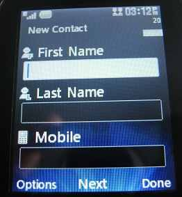 LG 500g Basic contact info