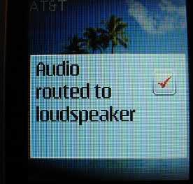 Nokia 2720 speakerphone confirmation