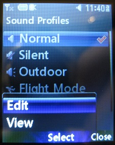 LG 420g normal sound profile