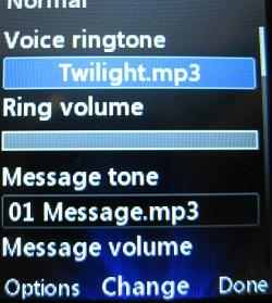 Change LG 420g voice ringtone