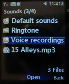 LG 420g voice recordings