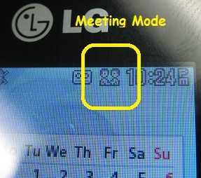 LG 420g Meeting Mode icon