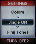 jitterbug phone jingle setting