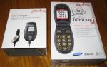 Jitterbug J phone and car charger in boxes