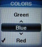jitterbug screen colors