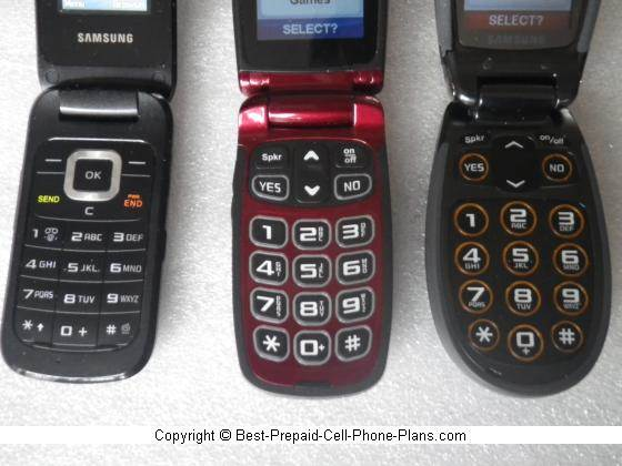 Jitterbug keypads compared with standard cell phone
