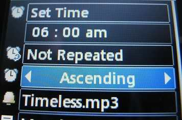 LG 500g alarm settings