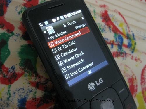 lg 290c voice command menu