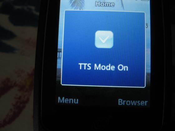 LG 440g text to speech