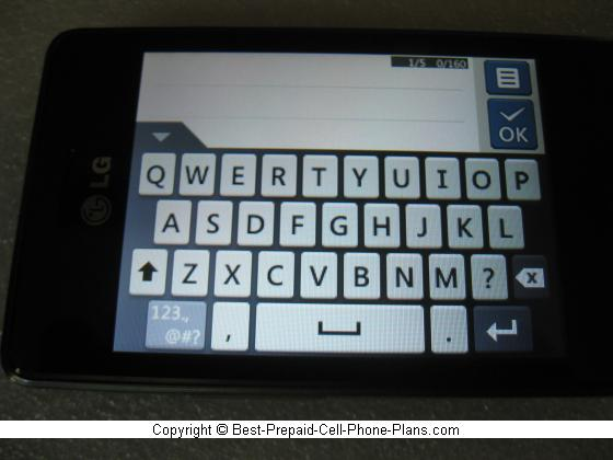 LG 840g virtual QWERTY keyboard
