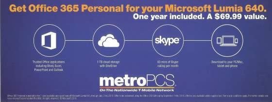 metropcs office 365 offer