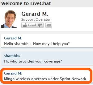 mingo wireless coverage confirmation