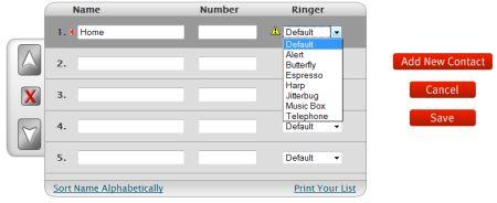 Jitterbug online phonebook