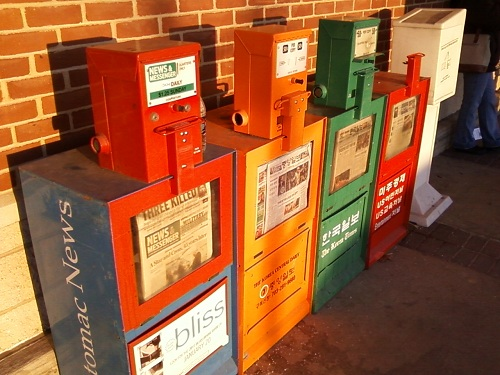 newspaper dispensers taken with R355C
