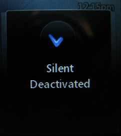 vibration mode off