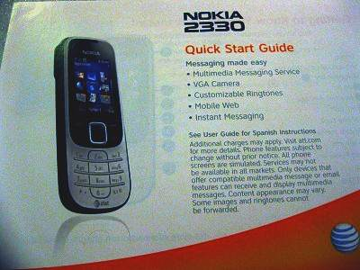 nokia 2330 quick start guide