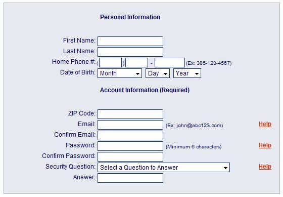 personal info field