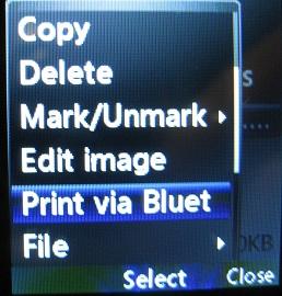 LG 420g print via bluetooth