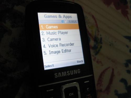 T401g Games and Apps Menu