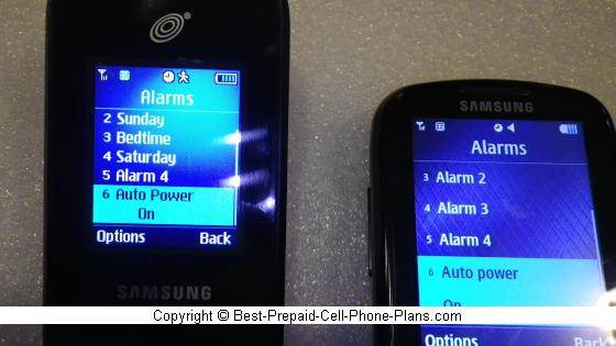 auto power on alarms on Samsung S425G and S275g