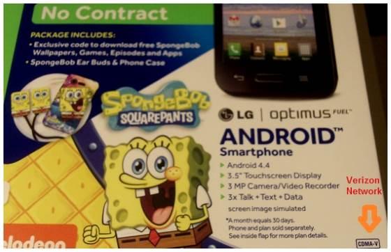 lg optimus fuel spongebob squarepants box