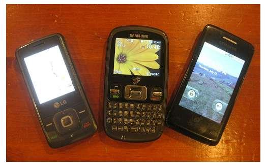 three straight talk phones