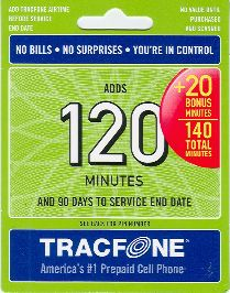 tracfone 120 minute card