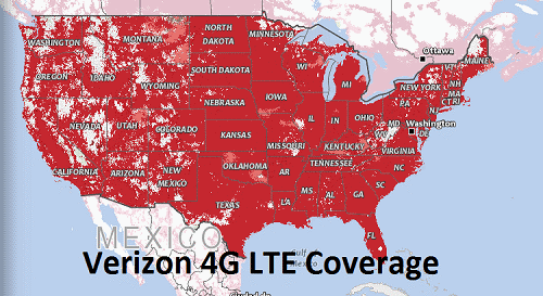 on cell phone coverage map