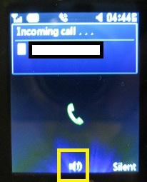 LG 420g turn speaker phone on